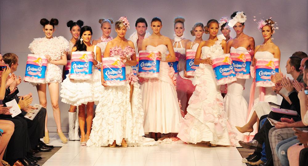 Cashmere Bathroom Tissue Fashion Show