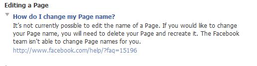 Facebook Page Help